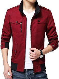 online shopping for Kjdshwa Men's Long Sleeve Full Zip Lightweight Jacket from top store. See new offer for Kjdshwa Men's Long Sleeve Full Zip Lightweight Jacket Mens Lightweight Jacket, Bodybuilding Clothing, Men's Coats And Jackets, Jackets Online, Men Casual, Casual Outfits, Leather Jacket, Jacket Men, Mens Fashion