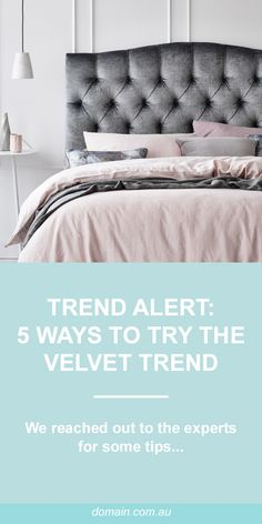 Trend alert: Five ways to add a touch of velvet to your home