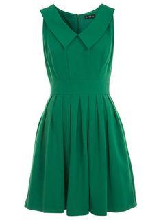 Green Collar Skater Dress - New In - Miss Selfridge ($50-100) - Svpply