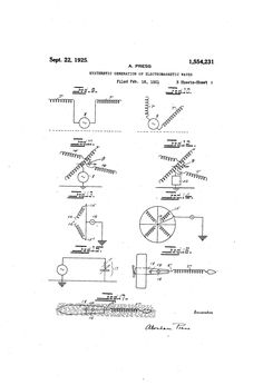Patent US1554231 - Hysteretic generation of electromagnetic waves - Sep 22, 1925