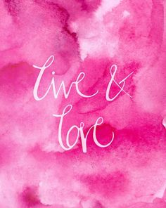 With a vibrant watercolor background and calligraphy lettering, our Live and Love print is a perfect accent to any living space. Best Quotes, Love Quotes, Inspirational Quotes, Motivational, Essie, Quote Prints, Art Prints, Short Words, Pretty Quotes