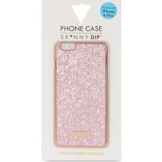 SKINNY DIP Dita rose gold iPhone 6+ case ($19) ❤ liked on Polyvore featuring accessories, tech accessories and rose gold