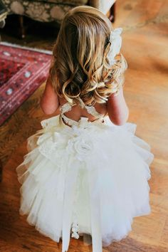 Flower Girl Dress Lace Tutu style soft ivory by JezebelJerry, $200.00