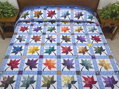 Autumn Splendor Quilt -- outstanding cleverly made Amish Quilts from Lancaster (hs6080)
