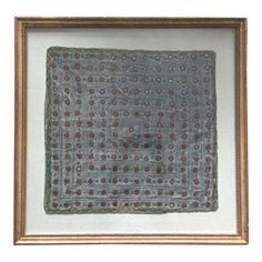 Custom Framed Vintage Silk Indian Textile