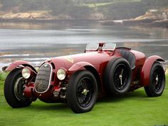 1936 Alfa Romeo Botticella Spider of the Scuderia Ferrari Auto Retro, Retro Cars, Vintage Cars, Antique Cars, Vintage Signs, Luxury Sports Cars, Sport Cars, Aston Martin, Maserati