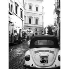 Vintage Rome in black and white, Large Size, Italy Travel Photography... ❤ liked on Polyvore featuring backgrounds