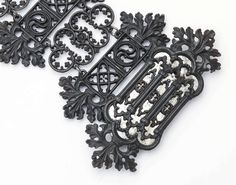 Antique Berlin Iron Bracelet with Mirrored Steel insert by Geiss