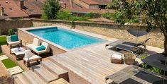 Backyard Pool Designs, Small Backyard Pools, Swimming Pools Backyard, Swimming Pool Designs, Pool Landscaping, Backyard Patio, Best Above Ground Pool, Above Ground Swimming Pools, In Ground Pools