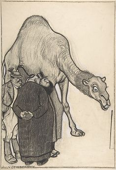 Three Men and a Camel, Willy Stieborsky, Vienna, 1900-1966, Metropolitan Museum of Art collection