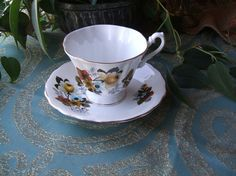 Vintage Royal Dover Bone China Teacup and Saucer by TheHilltopShop, $15.00