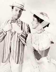 dick van dyke, julie andrews, 'mary poppins'.