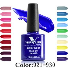 CANNI 공장 공급 Venalisa 60 색 긴 지속 오프 흡수 젤 경화 주도 자외선 램프 7.5 미리리터 네일 아트 젤 폴란드어 uv 광택 래커