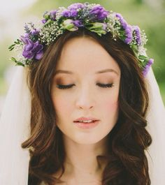 Purple flower crown. :)