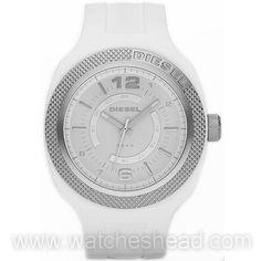09f4839916c Sleek white mens watch Diesel Watch