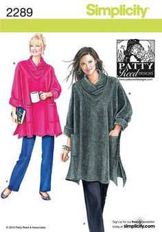 Looking to sew something to throw on when I'm freezing at the office. Simplicity pattern 2289: Misses' & Plus Size Sleepwear sewing pattern.