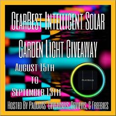 GearBest Intelligent Solar Garden Light Giveaway 9.13 ~ Tales From A Southern Mom