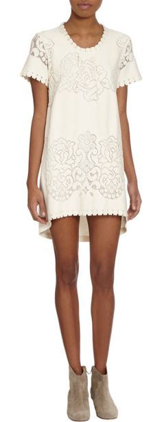 { Lace Front Tee Dress }