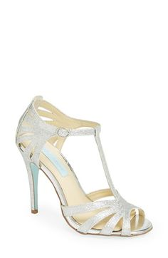 Blue by Betsey Johnson 'Tee' Sandal (Women)   Nordstrom  LOVE THESE SHOES!!! Champagne or silver! And something blue!