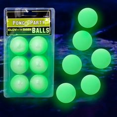 Glow in the Dark Ping Pong Balls-These Ping Pong Balls aren't your run of the mill Balls. These Balls Glow in the Dark! You'll get a pack of 6 Balls that all Glow brightly in the dark or under a blacklight. Glow In Dark Party, Glow Party, 18th Birthday Party, Sweet 16 Birthday, Birthday Ideas, Neon Birthday, Blacklight Party, Sweet 16 Parties, Housewarming Party