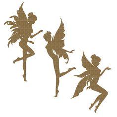 Fairy Trio Set 2 by CreativeEmbellish on Etsy