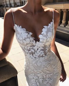 Buy Elegant Mermaid Spaghetti Straps Lace V Neck Ivory Wedding Dresses, Bridal Dresses on sale.Shop prom or formal dresses from Promdress. Find all of the latest styles and brands in Junior's prom and formal dresses at rosepromdress Lace Mermaid Wedding Dress, Bridal Lace, Dream Wedding Dresses, Bridal Dresses, Wedding Gowns, Prom Dresses, Lace Wedding, Bridesmaid Dresses, Wedding Bells