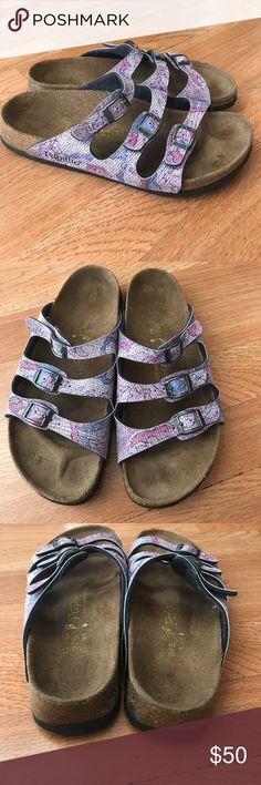 Papillo Birkenstock sandals size wo's 7 Very comfortable Birkenstock Shoes Sandals