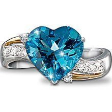 Beautiful blue topaz with diamonds ring!