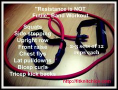 8 Resistance Band Exercises for Home or Travel | Resistance is NOT Futile! - fitknitchick