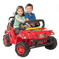 Electric Cars For Kids To Ride On 12V Jeep Rambler Battery Powered 2 Seater Toy