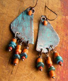 """""""Rain Dance"""" earrings by Gloria Ewing on Etsy."""