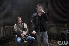 """Supernatural -- """"Black"""" -- Image SN1002b_0504 -- Pictured (L-R): Jared Padalecki as Sam and Travis Aaron Wade as Cole  -- Credit: Katie Yu/The CW --  © 2014 The CW Network, LLC. All Rights Reserved"""