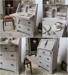 Miniature Furniture, Shabby Chic Style, Desks, Houses, Models, Antiques, Handmade, Home Decor, Atelier
