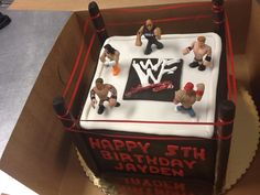 Top View of WWE Wrestling Cake!