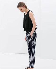 Bilde 1 fra CROPPED TOPP DOBBELT STOFF fra Zara