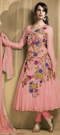 PASTEL PINK: in exclusive Rose embroidery. Like it? #salwar