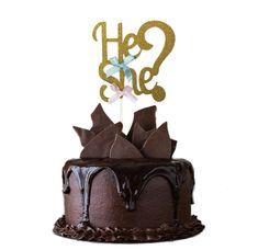 Organiseer jij een gender reveal party? Met deze 'He or She' taarttopper maak je een echt feest van het bekendmaken van het geslacht van de baby! Deze taarttopper is gemaakt van dun karton gedecoreerd met gouden glitter en twee strikjes. Reveal Parties, Gender Reveal, Birthday Celebration, Girl Birthday, Cake Toppers, Boy Or Girl, Bakeware, Cupcakes, Organization