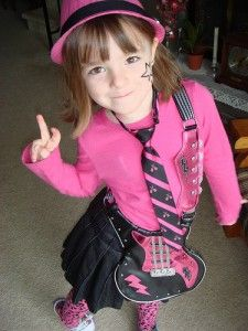 20 Lazy, Last-Minute Kids' Halloween Costumes You Can Put Together From Stuff You Already Own halloween stuff, kid costum, kid halloween costumes, rock stars, kids, last minute, rockstar