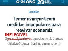 *Por Via Das Dúvidas*: O Globo Denuncia Temer * Antonio Cabral Filho - Rj...