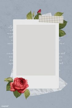 Blank collage photo frame template on gray background vector | premium image by rawpixel.com / NingZk V.
