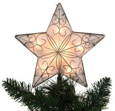 "star tree topper | Christmas Decorations - 8.5"" Lighted Star Tree Topper"