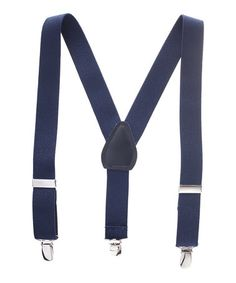 Another great find on #zulily! Navy Adjustable Suspenders by Hold'Em #zulilyfinds