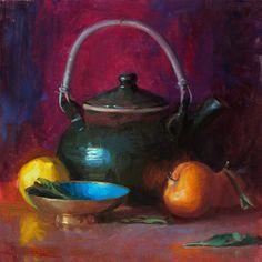 Quang Ho 1963 | Vietnamese-born American painter | Impressionist Still life