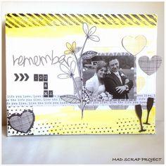 Inspírate con la colección Plus One de Amy Tangerine #scrapbooking #inspirate #madscraproject #MSP #plusone Tangerine Ideas, Amy Tangerine, Love You, Scrapbook, Projects, Life, Decor, Canvases, Crates