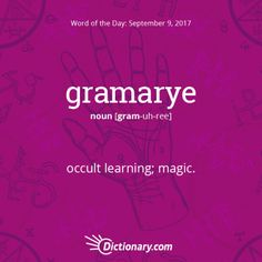 gramarye - Word of the Day | Dictionary.com