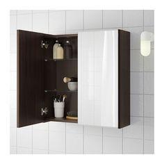 LILLÅNGEN Spiegelschrank 2 Türen - schwarzbraun - IKEA