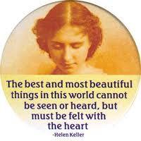 Hellen Keller, admire her!
