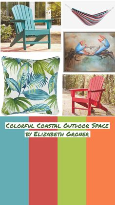 Outdoor Furniture, Outdoor Decor, Outdoor Living, Living Spaces, Coastal, Ottoman, Palette, Colorful, Make It Yourself