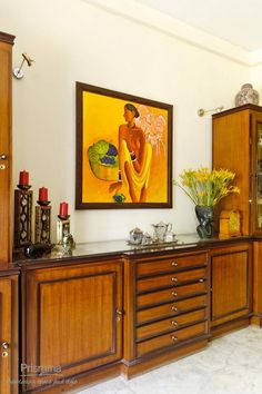 Indian Home Interior, Indian Interiors, Dining Room Furniture Design, Home Decor Furniture, India Home Decor, Earthy Home, Colonial, Living Room Cabinets, Indian Homes