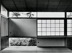 Example of rice paper blinds (shoji paper) used in Tange Residence in Tokyo, Japan by Kenzo Tange Architecture Du Japon, Architecture Antique, Space Architecture, Architecture Details, Pavilion Architecture, Sustainable Architecture, Residential Architecture, Contemporary Architecture, Kenzo Tange